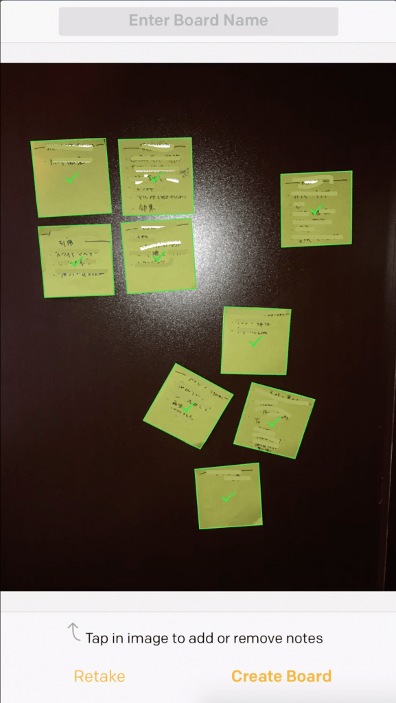 Post-it Plus: 付箋紙を撮影すると認識