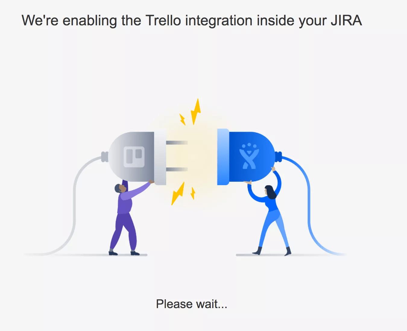 Trello と JIRA Cloud の連携設定中