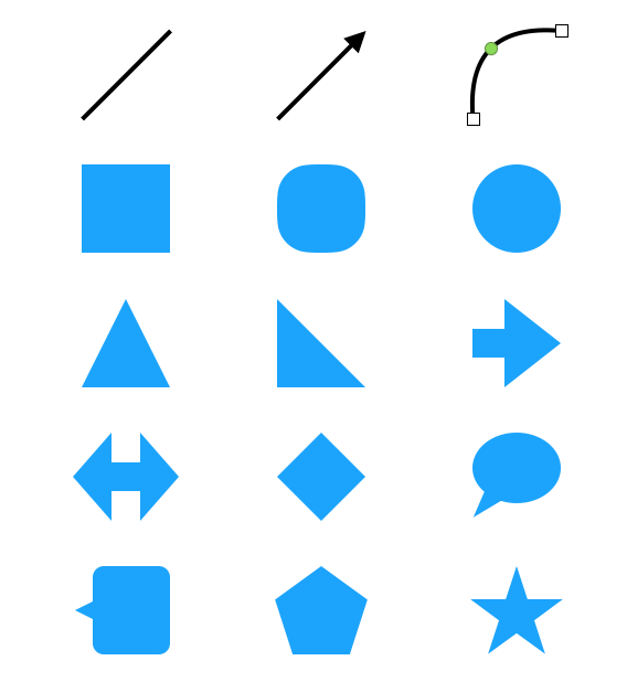Keynote の「基本」図形